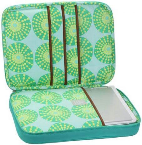 Amy Butler By Kalencom Nola Laptop Wrap - Teal front-1030653