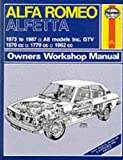 Peter G. Strasman Alfa Romeo Alfetta All Models 1973-87 Owner's Workshop Manual (Service & repair manuals)