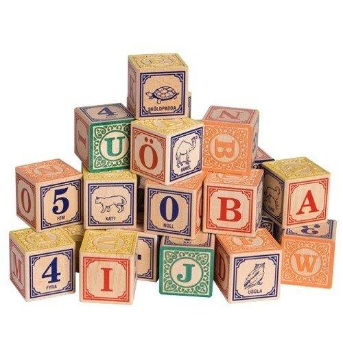 Imagen de Uncle Goose suecos Alphabet Blocks madera - Hecho en los EE.UU.