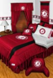Alabama Crimson Tide 3 Pc TWIN Comforter Set & Bonus 2 Pc Towel Set - Entire Set Includes: (1 Comforter, 1 Sham, 1 Bedskirt, 1 Bath Towel, 1 Hand Towel) SAVE BIG ON BUNDLING! at Amazon.com