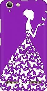 AMEZ designer printed 3d premium high quality back case cover for Lenovo Vibe K5 Plus (pink purple white girl princess)
