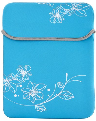 8 - 10.1 inch Sky Blue Blossom Floral Neoprene Netbook Laptop Sleeve Slip Case Pouch Bag for iPad, Acer, ASUS, Dell, HP