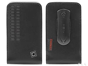 Cellet Bergamo Premium Leather Case for Apple iPhone 3 3GS 4 4s (Removable Spring Clip Included)