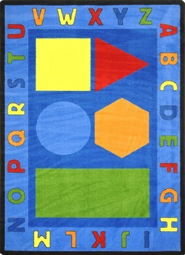 "Joy Carpets Kid Essentials Early Childhood Alphabet Shapes Rug, Multicolored, 10'9"" x 13'2"""