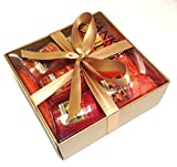 Yankee Candle - 6 Votive Sampler Gift Set -(Incl. Cranberry Pear & Cinnamon Stick) in a Branded Yankee Candle Gold Gift Box.
