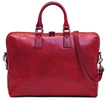 Floto Milano Slim Red Briefcase Attache Lap-top Case