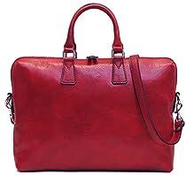 Floto Milano Slim Red Briefcase Attache Lap-top Case