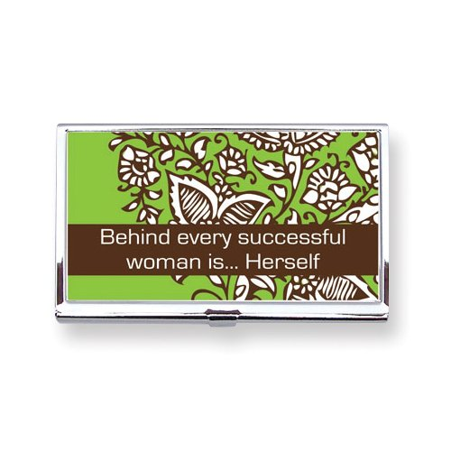 Behind Every Successful Woman Is Herself Card Case Picture