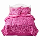 51TMOHVrF8L. SL160  Xhilaration Twin Bed in Bag Pink Cheetah Comforter Sheets Reversible Leopard