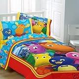 BACKYARDIGANS 5PC TWIN BEDDING SET, Comforter, 3pc Sheet Set, Sham, Girls,  ....