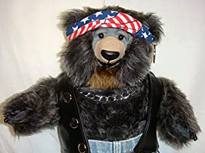 New! 100th Anniversary Harley Davison Poseable Vermont Style Biker Teddy Bear