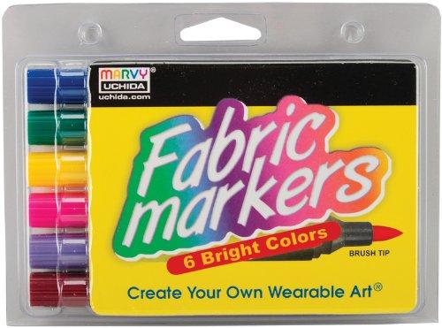 Uchida 651421 Bright Fabric Marker Brush Tip - 6-Package