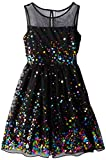 Speechless Big Girls Illusion Dress with Rainbow Sequin