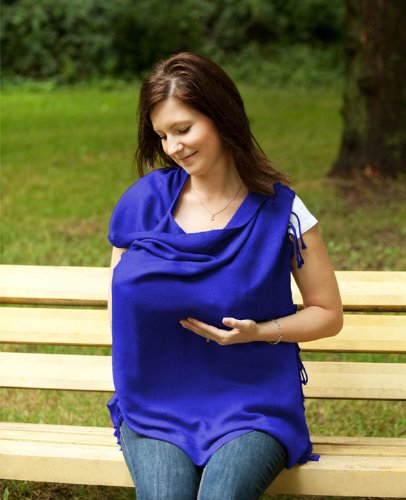 Jolly Jumper Pashmama Breast Feeding Cover The Breast Feeding Cover You Wear as a Scarf - Blue