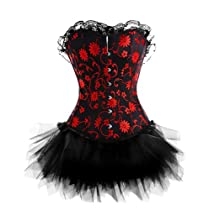 A3012S013 - Black and Red Corset with Tutu