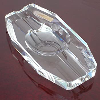Crystal Double Cigar Ashtray