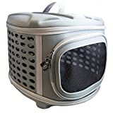 Pet Magasin Collapsable Hard Cover Pet Carrier with Hard Top and Hard Floor