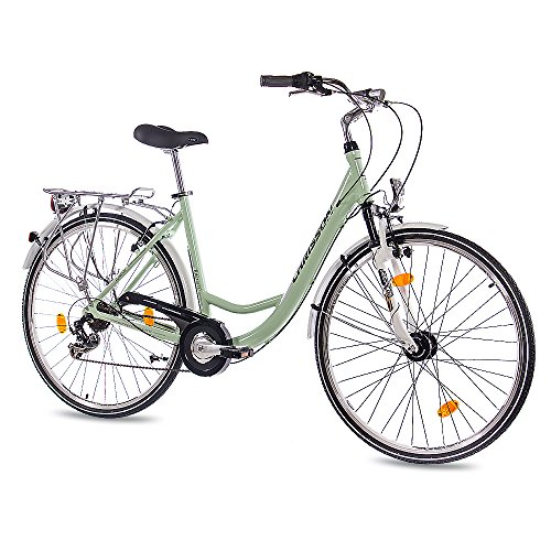 28-Zoll-LUXUS-ALU-CITY-BIKE-DAMENRAD-FAHRRAD-CHRISSON-RELAXIA-10-mit-6-Gang-SHIMANO-mint-grn