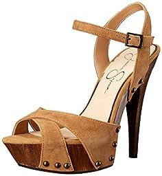 Jessica Simpson Women\'s Faraday Dress Sandal, Honey Brown, 8.5 M US