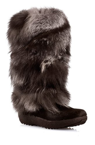 Tecnica Womens Yaghi 3 Fur Boot Dark Brown Size 6