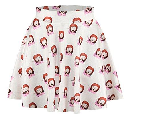 AZIZY-Womens-Girls-Cute-Digital-Print-Stretchy-Pleated-Tutu-Skater-Mini-Skirt