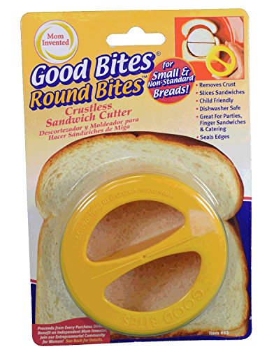 Good Bites Round Crustless Sandwich Cutter Removes Bread Crust (Crustless Sandwich Cutter compare prices)