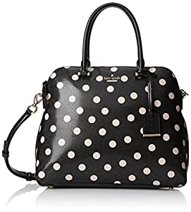kate spade new york Cedar Street Dot Margot Top Handle Bag, Black/Decob, One Size