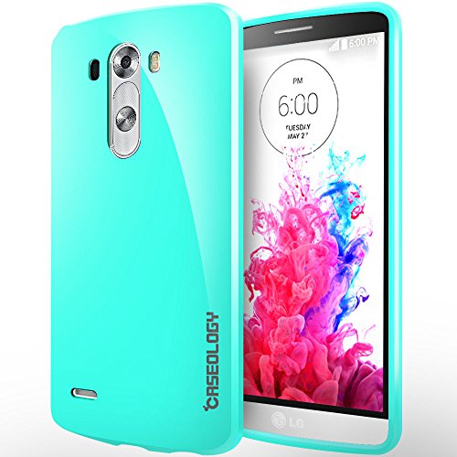 [Drop Protection] Caseology Lg G3 [Turquoise Mint] Slim Fit Skin Cover [Shock Absorbent] Tpu Bumper Case [Made In Korea] (For Verizon, At&T Sprint, T-Mobile, Unlocked)