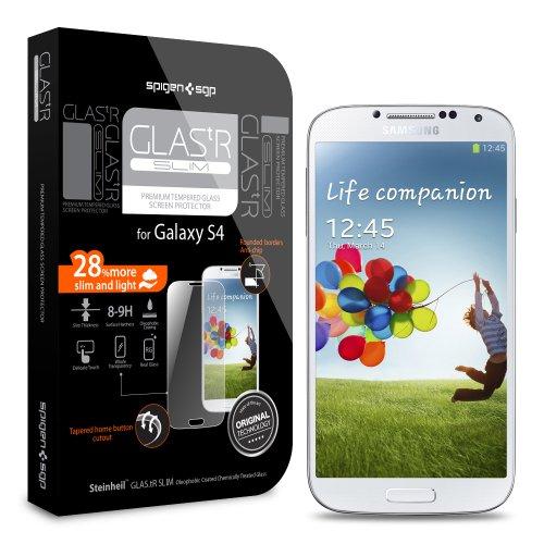 Galaxy S4 Screen Protector, Spigen Glas.Tr Slim Premium Tempered Glass Screen Protector For Galaxy S4 - 1 Pack - Retail Packaging (Sgp10178)