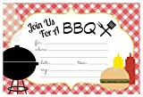 Summer BBQ Cookout Invitations - Fill In Style (20 Count) With Envelopes