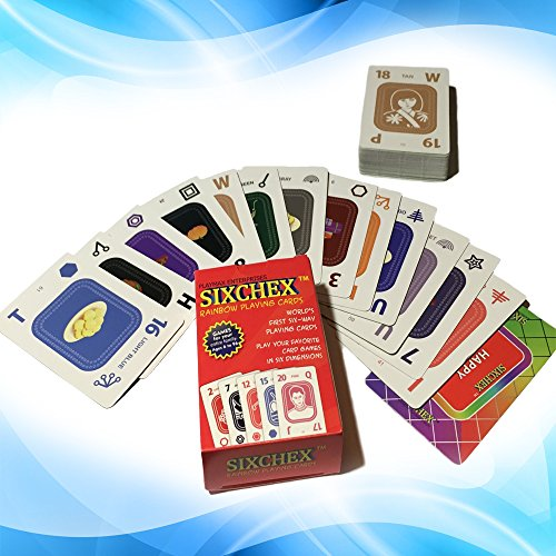 Hot Sale Fun Rainbow Playing Cards Family Card Game for All Ages, Kids & Adults