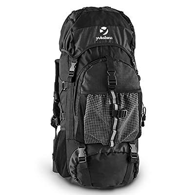 Yukatana Thurwieser 2015 Travel- Backpacker- Reise- u. Trekking-Rucksack (55 Liter, wasserfestes Nylon, inkl. Regenhülle, Rückenpolsterung, 2 große Reißverschlussfächer, Seitentaschen, Netz, verstärkter Rücken und Boden)