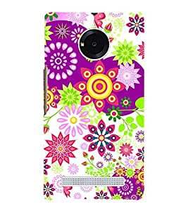 Floral Pattern 3D Hard Polycarbonate Designer Back Case Cover for YU Yureka Plus