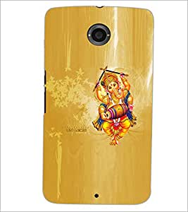 PRINTSWAG LORD GANESH Designer Back Cover Case for MOTOROLA GOOGLE NEXUS 6