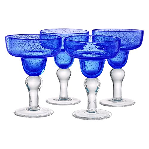 Artland Iris Margarita Glasses, Cobalt Blue, Set of 4 (Margarita Glasses Set Of 4 compare prices)
