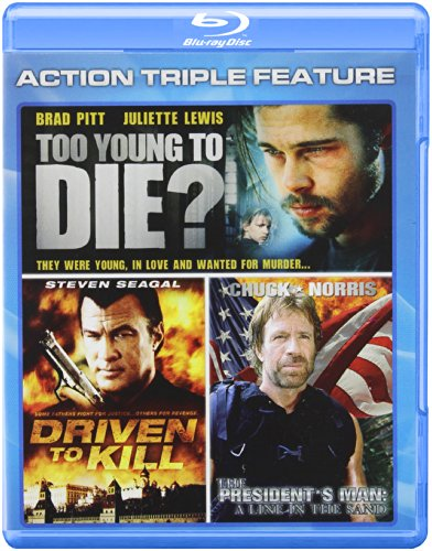 Action Triple Feature: Driven to Kill / To Young to Die? / President's Man: A Line in the Sand [Blu-ray]