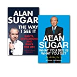 Alan Sugar Alan Sugar Collection 2 Books Set, (The Way i See It and What you See is what you Get)