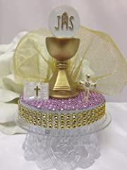 A First Holy Communion Cake Topper Centerpiece for a Girl or Boy Choose Item