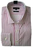 Mens Austin Reed Shirt Pink Stripe LS COLLAR 16