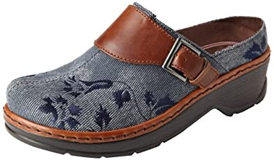 Klogs USA Women's Austin Clog,Light Denim,6 M US