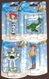 Disney Toy Story 3 inch Mini Figurines Set Buzz Woody Rex Jessi