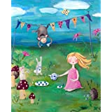 Cici Art Factory Wall Art, Tea Party Blonde Paper Print, Small