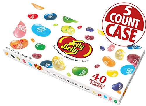 40-Flavor Jelly Bean Gift Box - 5-Count Case (Jelly Belly 40 Flavors compare prices)