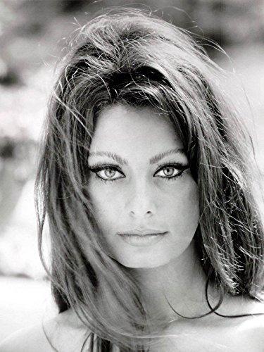 Sophia Loren quadro pannello in legno mdf bordo nero 100 x 75 cm