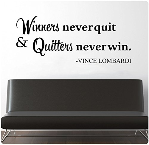 Never Quit Wall Quote
