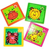 Zoo Animal Slide Puzzles (1 Dozen)