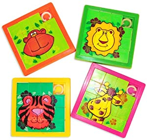 Zoo Animal Slide Puzzles (1 dz)
