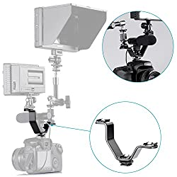 Neewer® Triple Mount Hot Shoe V Mount Bracket for Neewer CN-160, CN-126, CN-216 and Other Video Lights, Microphones or Monitors on Cameras and Camcorders (Triple Mount Bracket)