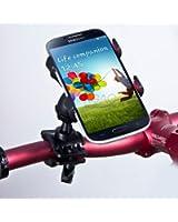 SAVFY® Universel Support guidon Vélo & Moto Téléphone Portable Compatible Apple iPhone 6 , iPhone 6 plus , iPhone 5S & iPhone 5C & iPhone 5 & iPhone 4S / Samsung Galaxy S5 & S4 & S3 & Galaxy Note III & Note II & Note 1 & Galaxy Core Plus & Core 4G & Trend Lite / HTC / Sony Xperia / Nokia / LG / GPS TomTom & Garmin et d'autres appareils ...