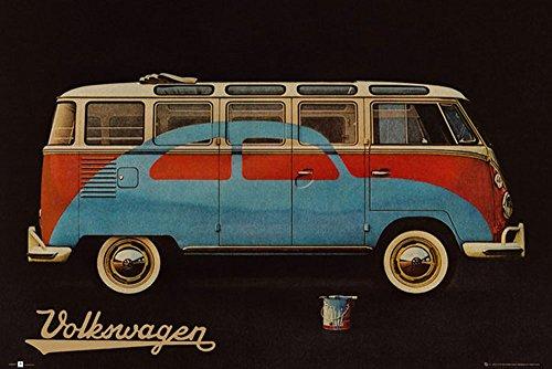 Empire Merchandising 662 590 Volkswagen, circamper vernice Annuncio, VW Bus classico manifesti d'epoca Poster, dimensioni 91.5 x 61 cm